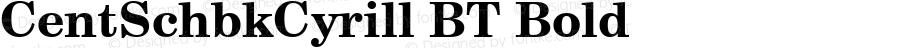 CentSchbkCyrill BT Bold