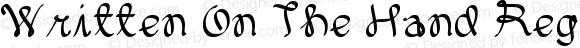 Written On The Hand Regular Version 1.00 June 8, 2012, initial release