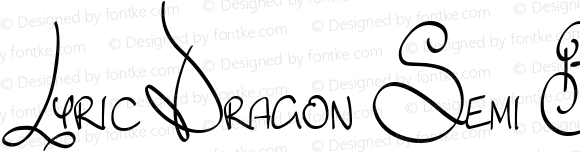 Lyric Dragon Semi Bold Version 1.0