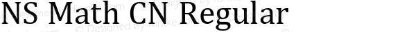 NS Math CN Regular Version 1.02