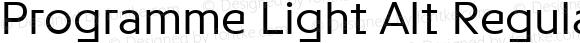 Programme Light Alt Regular Version 1.000