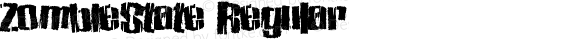 ZombieState Regular Version 1.00 October 1, 2013, initial release