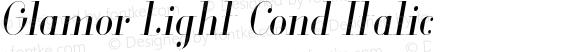 Glamor Light Cond Italic Version 1.000;PS 001.001;hotconv 1.0.56