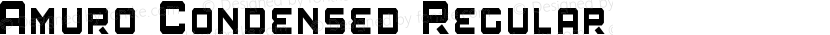 Amuro Condensed Regular Preview Image