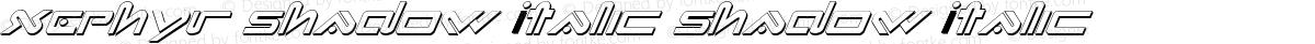 Xephyr Shadow Italic Shadow Italic