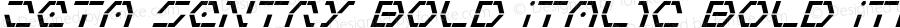 Zeta Sentry Bold Italic Bold Italic 001.000