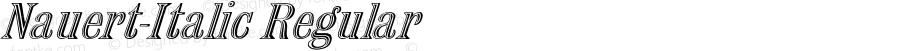 Nauert-Italic Regular -------------- d:\aff10\NAUERT-I.FF1 ----------