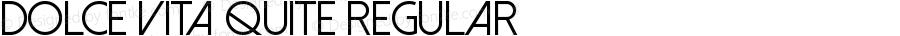 Dolce Vita Quite Regular Version 1.00 September 29, 2013, initial release