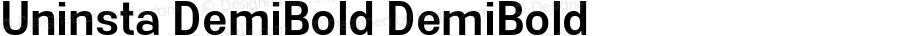 Uninsta DemiBold DemiBold Version 1.000