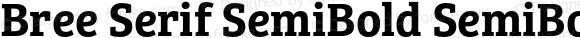Bree Serif SemiBold SemiBold