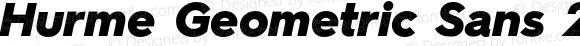 Hurme Geometric Sans 2 Black Oblique