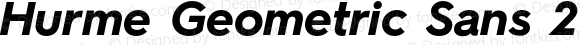 Hurme Geometric Sans 2 Bold Oblique
