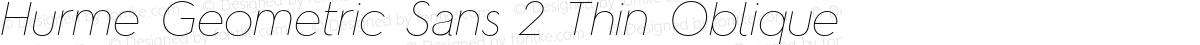 Hurme Geometric Sans 2 Thin Oblique