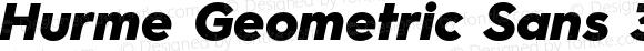 Hurme Geometric Sans 3 Black Oblique