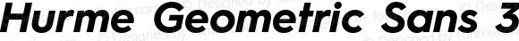 Hurme Geometric Sans 3 Bold Oblique