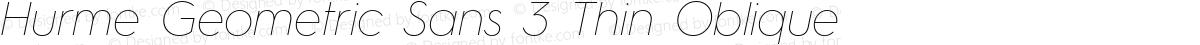 Hurme Geometric Sans 3 Thin Oblique