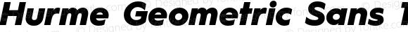 Hurme Geometric Sans 1 Black Oblique