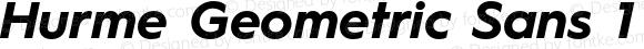 Hurme Geometric Sans 1 Bold Oblique