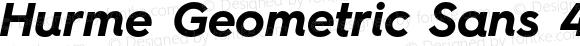 Hurme Geometric Sans 4 Bold Oblique