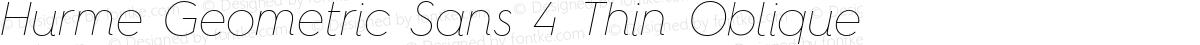 Hurme Geometric Sans 4 Thin Oblique