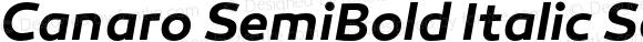 Canaro SemiBold Italic SemiBold Italic