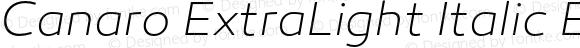 Canaro ExtraLight Italic ExtraLight Italic