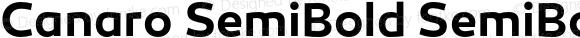 Canaro SemiBold SemiBold Version 1.000