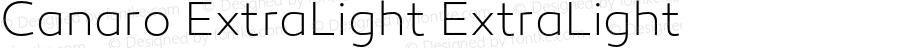 Canaro ExtraLight ExtraLight Version 1.000