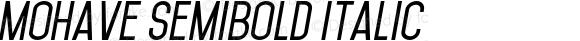 Mohave SemiBold Italic