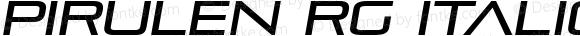 Pirulen Rg Italic