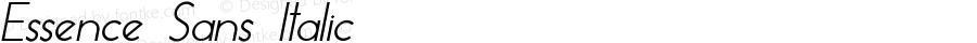 Essence Sans Italic Version 1.003 2013