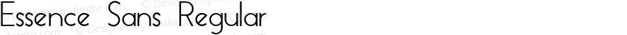 Essence Sans Regular Version 1.003 2013