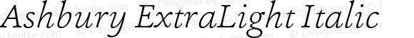 Ashbury ExtraLight Italic