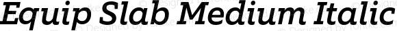 Equip Slab Medium Italic