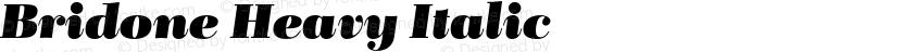 Bridone Heavy Italic Preview Image