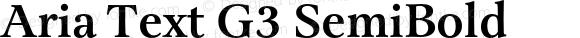 Aria Text G3 SemiBold