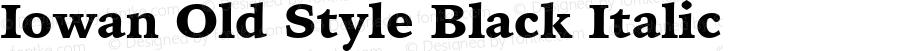 Iowan Old Style Black Italic