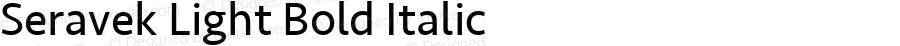 Seravek Medium Italic