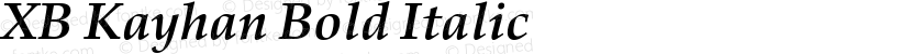 XB Kayhan Bold Italic Preview Image