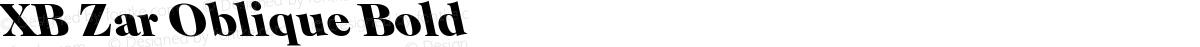 XB Zar Oblique Bold