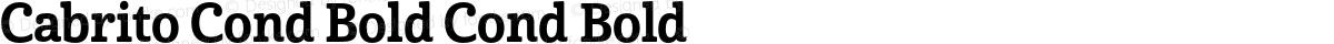 Cabrito Cond Bold Cond Bold