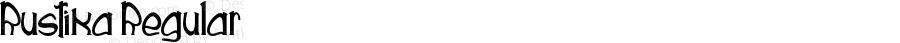 Rustika Regular Version 1.000 2014 initial release