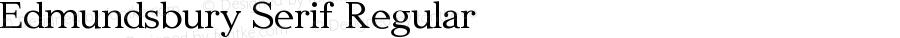 Edmundsbury Serif Regular Version 1.0