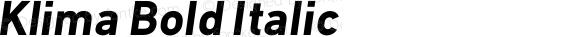 Klima Bold Italic