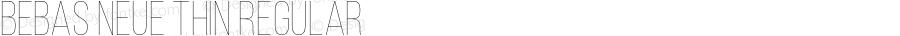 Bebas Neue Thin Regular Version 1.003;PS 001.003;hotconv 1.0.70;makeotf.lib2.5.58329