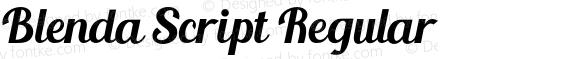 Blenda Script Regular preview image