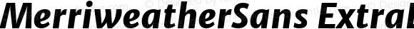 MerriweatherSans ExtraBold Italic