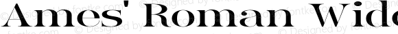 Ames' Roman Wide Regular Version 1.000;PS 001.000;hotconv 1.0.70;makeotf.lib2.5.58329