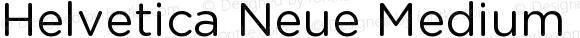 Helvetica Neue Medium Italic