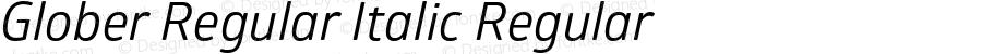 Glober Regular Italic Regular Version 1.000